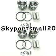 4 Sets Std Piston And Ring For Isuzu D201 2.2di Se2.2 Thermo King Sb