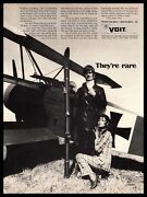 1970 Voit Spectra Ct6 Glass Snow Skis Red Baron German Fokker Airplane Print Ad
