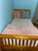 Two Twin Bed Frame Bedroom Modern Wood And Two Headboards And Drawer