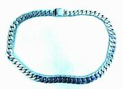 Solid 925 Sterling Silver Heavy Miami Cuban Link Chain Unisex Necklace 24