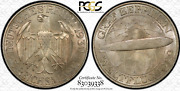 1930-a Germany, Weimar Republic 3 Mark Silver Zeppelin Pcgs Ms65 Nice Color