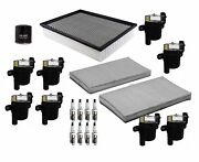 Denso Filters 8 Ignition Coils And 8 Spark Plugs Tune Up Kit For Chevy Gmc Ohv V8