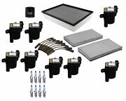 Denso Filters Wires Ignition Coil And 8 Spark Plugs Tune Up Kit For Chevy Gmc V8