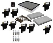 Denso Filters Wires Ignition Coil 8 Spark Plugs Tune Up Kit For Chevy Gmc Cady