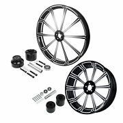 21and039and039 Front Wheel Rim Hub 18and039and039 Rear Set Fit For Harley Touring 08-up Single Disc