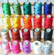 Wholesale Lot Indian Spools Of Silk Sewing Thread Machine Embroidery Colorful