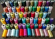 Wholesale 200 Pc Lot Indian Silk Sewing Spool Thread Stitched Multi Color Thread