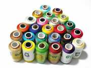 200 Pc Lot Spools Of Silk Thread Indian Embroidery Pure New Colourful Thread