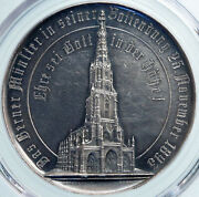 1893 Switzerland Bern Cathedral Completion Tower Swiss Silver Medal Pcgs I88114