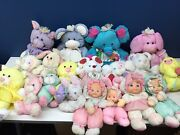 Vtg 80s 90s Lot 19 Fisher Price Puffalump Plush Toys Used Mouse Cat Bunny Baby