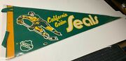 Amazing Vintage 1970and039s California Golden Seals Vintage Pennant
