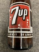 7up Amber Soda Bottle 7oz Acl 1960and039s Seven Up Red Label Bottle Ireland