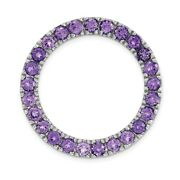 Sterling Silver Stackable Expressions Med Polished Amethyst Chain Slide