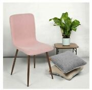 New Pink Wood Mid-century Modern Upholstered Dining Side Chairs Set Of 4 Cheap
