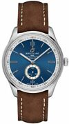 Breitling Premier Automatic 40 Blue Dial On Brown Strap Mens Watch A37340351c1x2