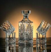 Whiskey Glass And Bottle Set Hip Flask Luxury Collection Kitchen Bar Supplies