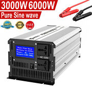 3000w 6000w Pure Sine Car Power Inverter Dc 12v To Ac 110v 2ac Outlets Converter