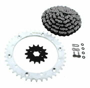 Cz Atv X Ring Chain And Silver Sprocket 14/40 100l Fits 1993-96 Yamaha 350 Warrior