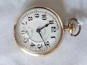 Illinois Bunn 60 Hour Rail Road Type 1 Gold Filled Pocket Watch Very Nice  A