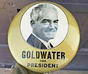 Goldwater Presidential Campaign 9 Pinback Easel Display Campaign Button 1964