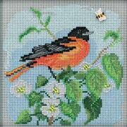 Mill Hill Buttons And Beads Counted Cross Stitch Kit 5x5 Baltimore Oriole Bird