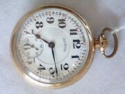 Illinois Bunn Special Rail Road Gold Filled Pocket Watch   A