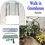 Plant Garden Greenhouse 5x2x2m Pe Cover Walk-in Green House For Outdoor Flowers