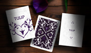 Purple Tulip Playing Cards Dutch Card House Company Poker Deck New Sealed