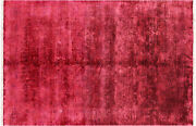 6and039 5 X 9and039 9 Overdyed Full Pile Hand Knotted Wool Rug - Q6487