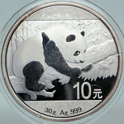 2016 China Panda On Branch And Temple Of Heaven Silver 10 Yuan Chinese Coin I88164