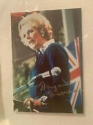 Authentic Rare Picture Of Margaret Thatcher With Autograph, Certified