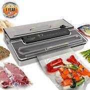 Nutrichef Pkvs50sts Vacuum Sealing Machine W/ Dry Wet Seal, Vac Roll Bags