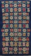 Antique Geometric Bakhtiari Hand-knotted Area Rug Navy Blue Wool Oriental 4and039x7and039