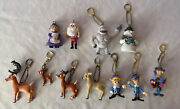 Memory Lane Rudolph The Red Nosed Reindeer Figures Keychain Ornaments Lot Of 11
