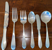 Reed And Barton Pointed Antique Sterling Silver 6-piece Flatware Set