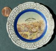 1940s Black Hills South Dakota Petrified Forest Colorful Butter Pat Plate-cool