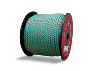 Cwc Blue Steelandtrade Rope - 3/8 X 600and039 Teal W/orange Tracer Truck Rope