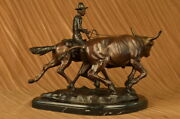 After Charles Marion Russell 1864-1926 Bronze Old Western Bolter Home Figure