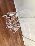 One 1 Harry Bertoia White Vintage Knoll Eames Mid-century Wire Mesh