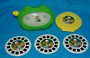 Rare Disney Handy Manny View Master And 3 Reels And Reel Case Viewmaster