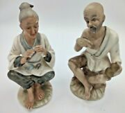 31. Arco Fine Quality Old Man And Woman Figurines Bisque Porcelain