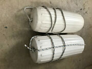 Boat 40and039 Loa Fenders Two 2 Inflatable Aprox 10 X 26andnbsp Center Rope Tube Type