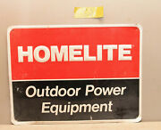Original Homelite Power Equipment Chainsaw And Mower Metal Sign Collectible S2