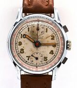 Rare Early Vintage Helbros 35mm Chronograph Menand039s Wrist Watch Swiss Made Cal 170