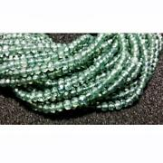 13 Inch Green Amethyst Coated Crystal Micro Faceted Rondelle Beads, 3.5-4mm