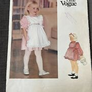 Little Vogue Sewing Pattern 1115 Toddler Girl Dress Pinafore Size 1 2 3 4 Ff