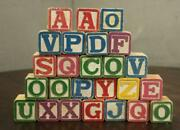 Vintage Lot Toy Wooden Childrens Abc Letter Picture Wood Blocks