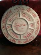 Vtg. Tepco China Usa Round 13.2 Divided Relish Snack Platter Early California