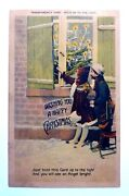 Vintage 1908 Hold To Light Angel And Children Antique Christmas Postcard Rare