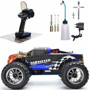 Rc Truck Nitro Gas Powered Hobby Car Two High Speed Off Road Monster Truck New